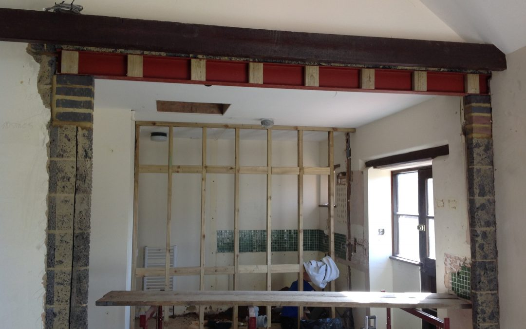 Open plan design with plastering